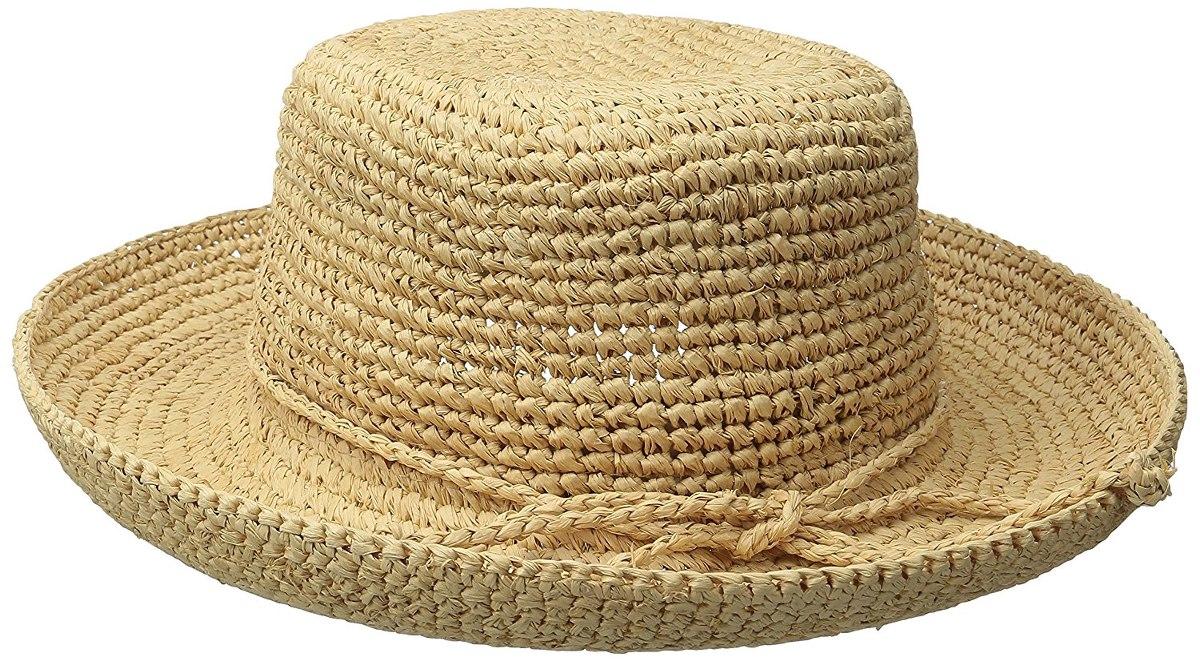 scala de mujeres de ganchillo rafia sombrero con el lazo. Cargando zoom. 222c44faaf4e
