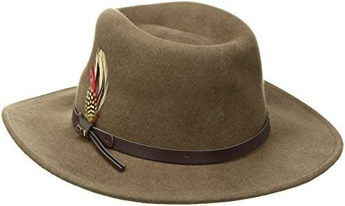 scala men's crushable felt outback, caqui, pequeño
