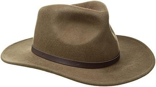 scala men's crushable felt outback, caqui, x-large