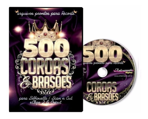 scan n cut - 500 arquivos de coroas e brasoes