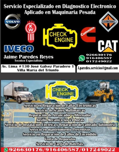 scaneo camiones, buses y maquinaria pesada con motor cummins