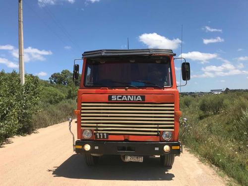 scania 111 con cazamba sucta habilitado unico!