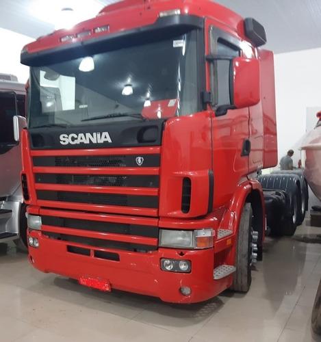 scania 114 r 380 6x2 trucada vermelha 2007 *** extra***