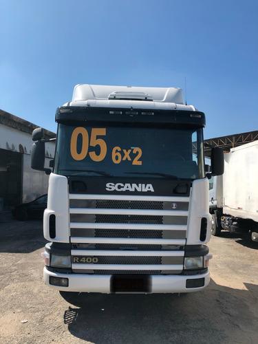 scania 124 r400 6x2 2005 motor novo