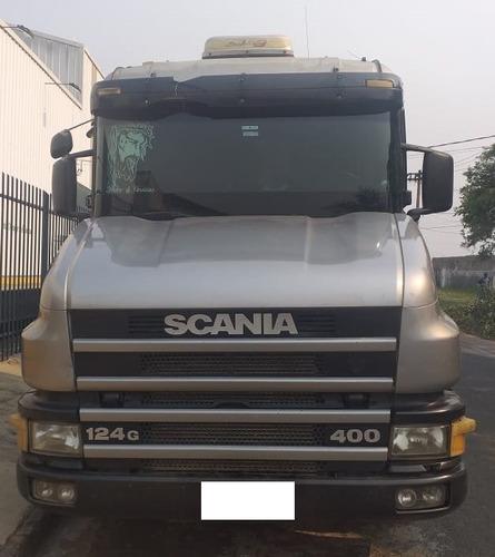 scania 124g 400 2001 6x2 prata cavalo mecânico filé
