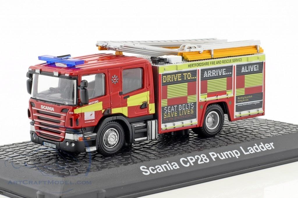 Scania CP28 Pump Ladder CAMION BOMBEROS 1:72 Atlas Diecast