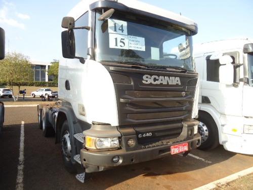 scania g 440 6x4 2014 -boogie pesado c/ over drive, retarder