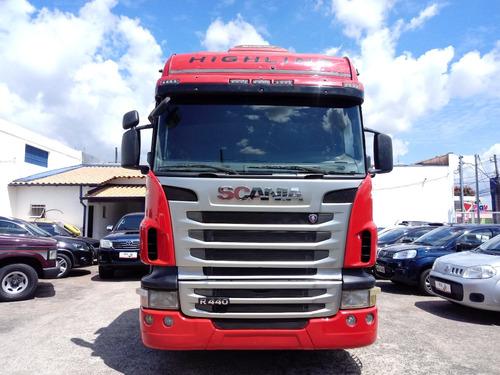 scania g 440 highline  6x2 vermelha 2012