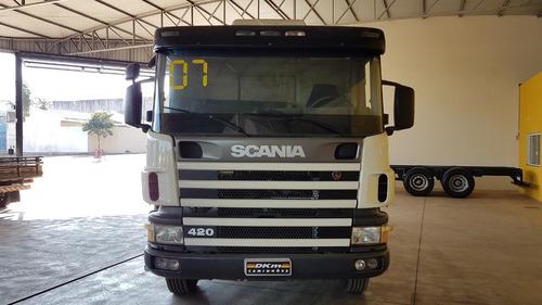 scania p 124 420 2007 8x4 canelinha