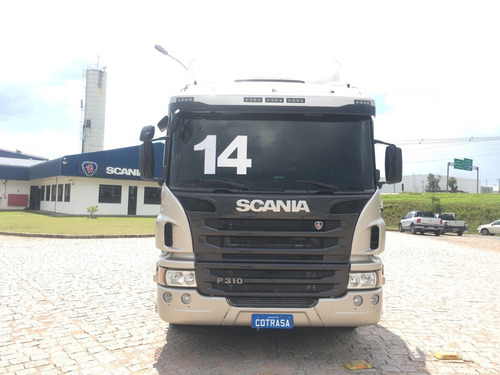 scania p 310, 4o. eixo, automat., ar cond., chassi, sjp3197