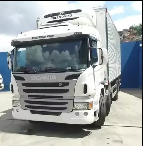scania p 310  bi truck baú refrigerado 2014