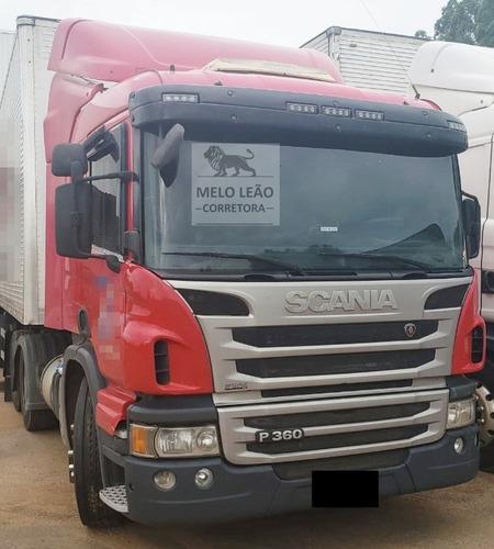 scania p-360 a 6x2 - 12/13 - cavalo truck, cabine leito *
