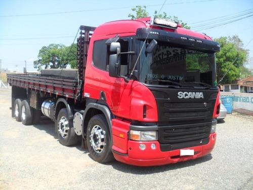 scania p310 bitruck carroceria de madeira 2013