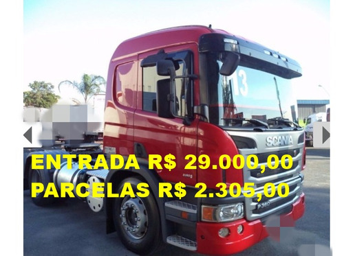 scania p360 13/13 vermelha 6x2 impecável !!!