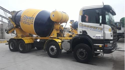 scania p380 con mixer hormigonero 8x4 9 mts