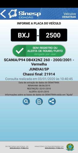 scania p94 260 6x2 carroceria aberta 2001