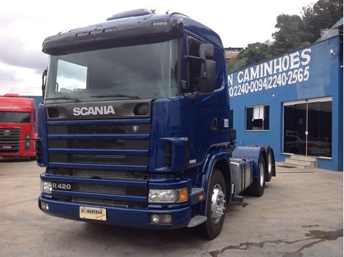scania r 420 6x2 2005 pronta para trabalhar