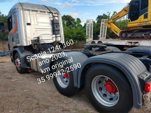 scania r124 360 6x2 com 240 mil original, ano 2003