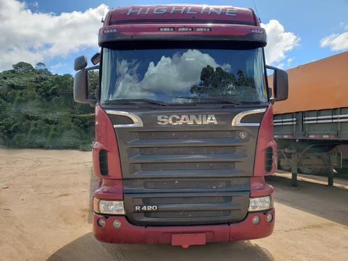 scania r420 highline 6x2 ano 2008/2009 c/ retarder = volvo