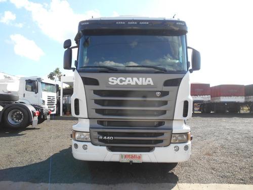 scania r440 2013 6x4 automática completa itália caminhões