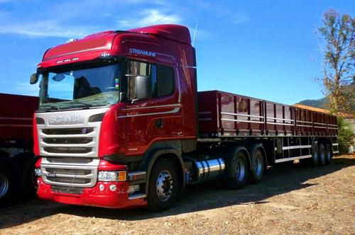 scania r440 truck carreta 3 eixos  randon zero