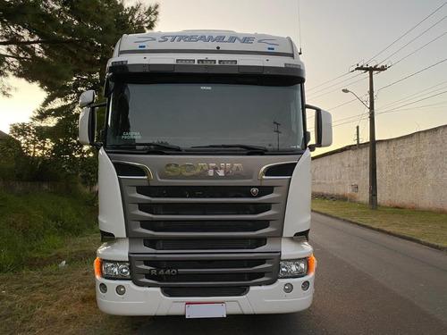 scania streamline r 440 6x2 com retarder pneus novos rodas a