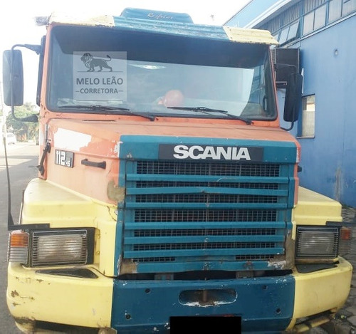 scania t-112 h 320 4x2 - 81/81 - cavalo toco, cabine leito