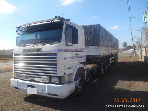 scania t113 360 6x2 6 marchas carreta graneleiro s/ pneus