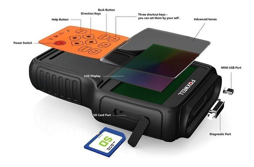 scanner automotivo foxwell nt614 airbag todas as montadoras