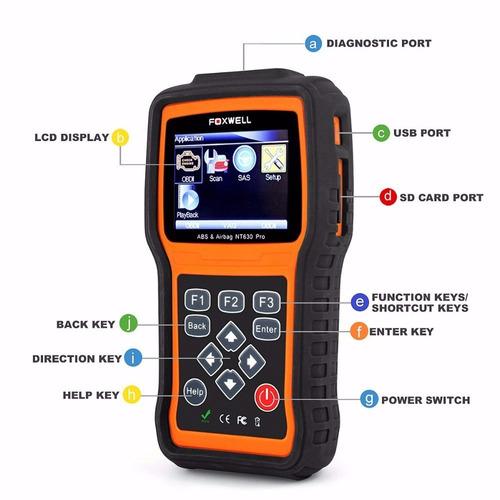 scanner automotivo foxwell nt630 pro reseta abs airbag obd2