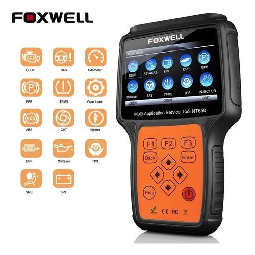scanner automotivo foxwell nt650 obd2 todas as montadoras