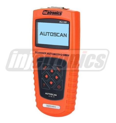scanner automotivo obdii portug autoscan inj-102 injetronics