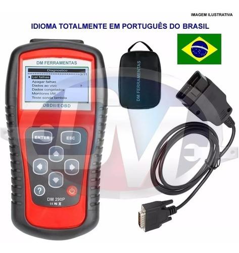 scanner automotivo raster obd2 português diagnóstico defeit