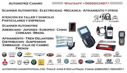 scanner automotriz domicilio - mecánica y electricidad