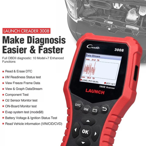scanner automotriz launch creader cr3008 full odb2