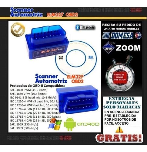 scanner elm327 automotriz, escaner bluetooth obdii obd2