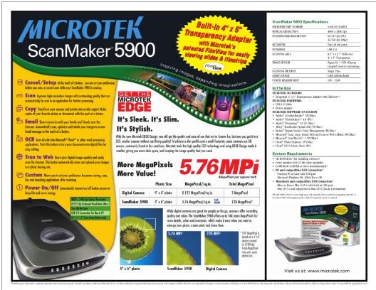 DRIVER UPDATE: MICROTEK 5900