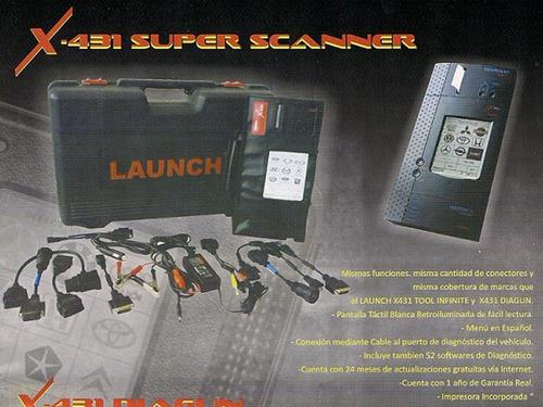 scanner multimarca automotriz launch master pro con impresor