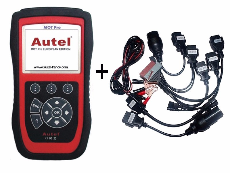 Scanner Multimarca Mot Pro Eu908 Autel Castellano Kit Cables