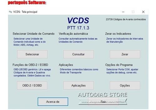 Scanner Vag 17 8 Vcds Obd2 Usb Software Português
