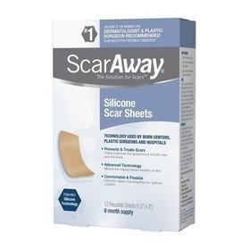 Scar Away 12 Hojas Silicona 6 Meses Cicatrices Blakhelmet E