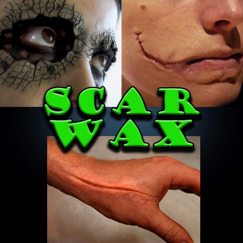 scar wax carne artificial 30 grs. + mastix spirit gum 15 ml.
