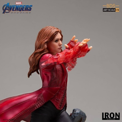 scarlet witch 1/10 bds - avengers: endgame - iron studios