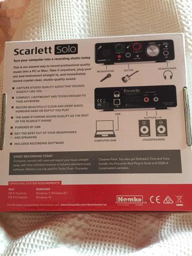 scarlett solo 2nd generation2-in/2