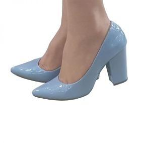 4b47947a28 Scarpin Azul Bebê - Scarpins para Feminino no Mercado Livre Brasil