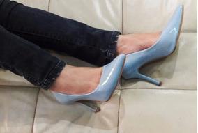 5322a1f0ba Scarpin Azul Bebe - Scarpins para Feminino no Mercado Livre Brasil