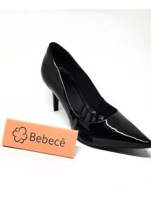 dd3084f83d Sapato Scarpin Bebecê Camurça Preto - Sapatos com o Melhores Preços ...