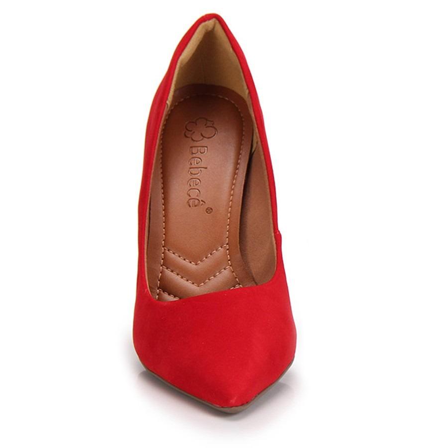b2328151e6 scarpin bebecê vermelho salto grosso - frete grátis. Carregando zoom.