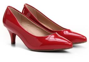 5ffaf9d77 Sapato Scarpin Beira Rio Conforto Vermelho - Calçados, Roupas e Bolsas Pele  com o Melhores Preços no Mercado Livre Brasil