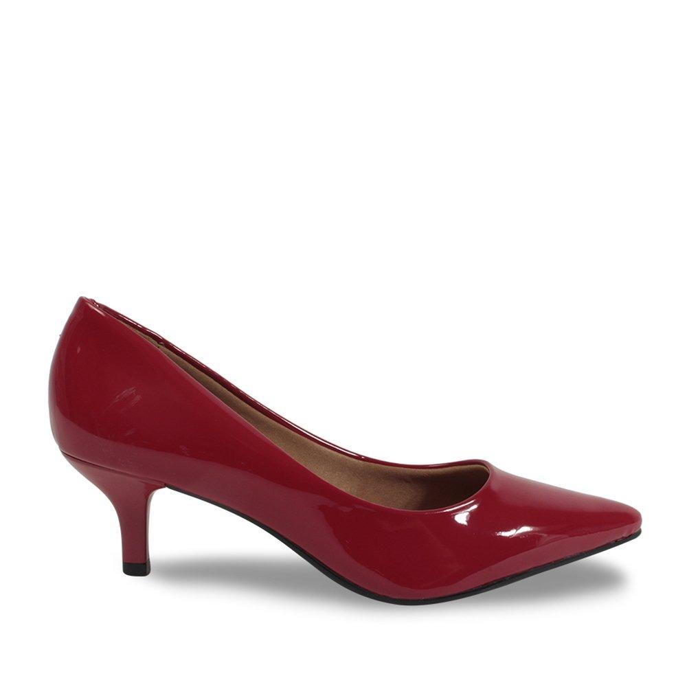 d4be0df9ee scarpin bico fino feminino vizzano salto baixo vermelho 1122. Carregando  zoom.